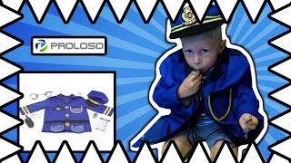 Pretend Play POLICE Ryan ToysReview Inspired - I Mailed Myself To Ryan Police Costume For Kids