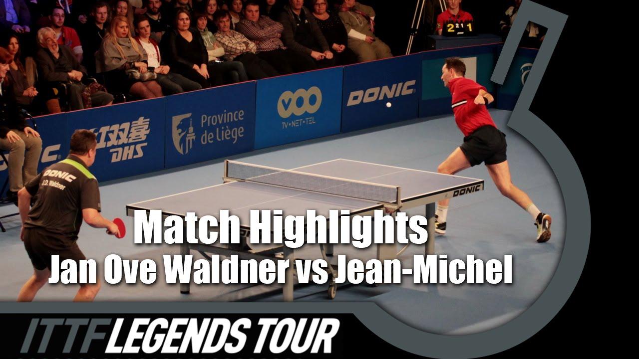 Legends Tour 2016 Highlights: Jan Ove Waldner vs Jean-Michel Saive (1/2)