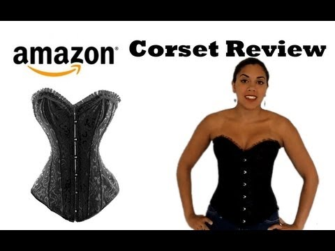(Amazon.com) Black Floral Tapestry Steel-Boned Corset Review