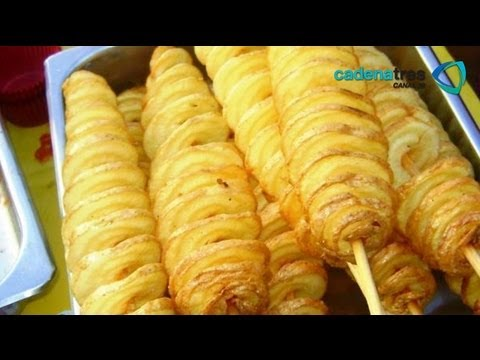 Receta de como preparar espiropapas de manera fcil. Receta de papas / Comida mexicana / Botanas
