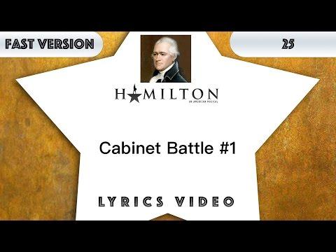25 episode: Hamilton - Cabinet Battle #1 [Music Lyrics] - 3x faster