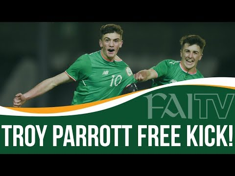 Troy Parrott Free Kick | Ireland U17 1-1 Turkey U17