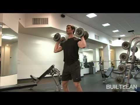 Dumbbell Hang Clean & Press Exercise Image 1