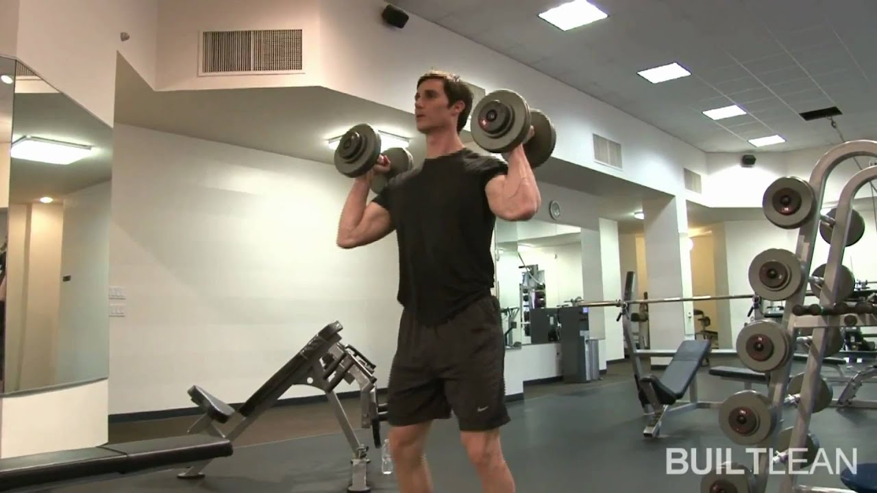 Dumbbell Hang Clean & Press Exercise - YouTube