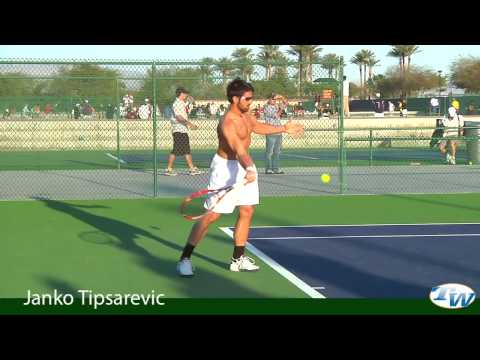 Janko Tipsarevic at the BNP Paribas Open 2010 Video