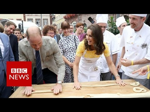 Knot bad: William and Kate try pretzel making- BBC News