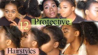 12 Quick & Easy Awesome ✿Protective Hairstyles For Natural Hair✿