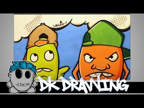 How to draw my new graffiti character Part 3