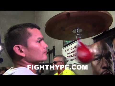 MARCOS MAIDANA WORKS ON SPEED AND TIMING IN PREPARATION FOR REMATCH WITH FLOYD MAYWEATHER