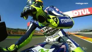 #TheGrandFinale: Rossi's lap of honour
