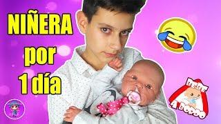 NIÑERA por un día de una bebe REBORN  - Bruno cuidando a la bebé Reborn Sofía