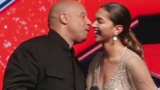 इसे कहते हैं मर्दानगी भरी महफ़िल में kiss कर डाला Vin Diesel ने Deepika Padukone को |
