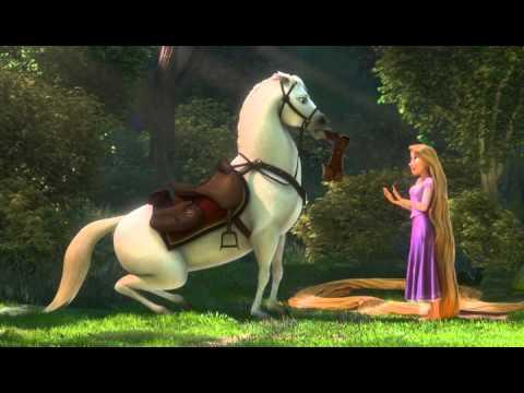 Рапунцель и прикольный конь