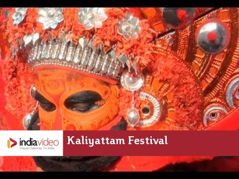Getting ready for the Kaliyattam Festival, Madayi Kavu, Kannur