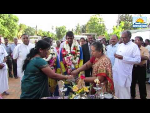 Olympic medalists in the strong reception for the students of Jaffna