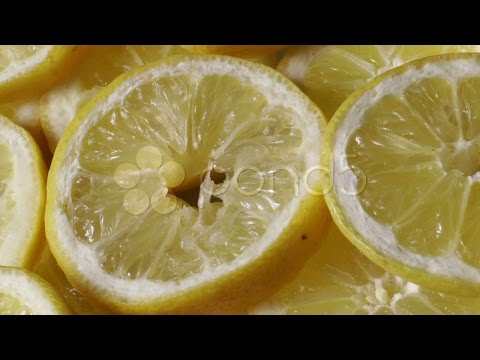 A Plate Full Of Lemons 1. Stock Footage