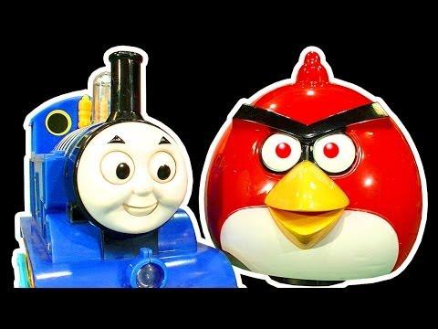 Angry Birds Dark Side Knock Off Toys Ep 4 & 5 Thomas Tank Battle Mr Hammer Smashing Chaos video