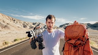 What's inside my CAMERA Bag for a World Tour - Travel Photography Gear