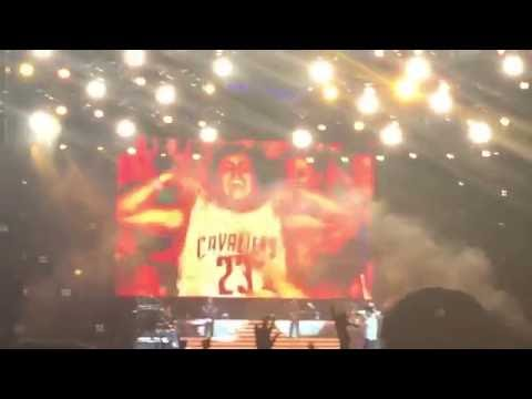 Luke Bryan Announces The Cavs Championship Live in Front of 80,000!