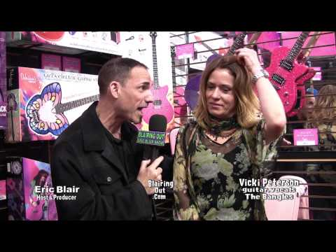 The Bangles Vicki Peterson talks w Eric Blair @ Daisy Rock Girl Guitars NAMM 2013