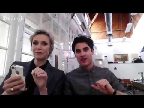 Glee Hangout with Darren Criss and Jane Lynch