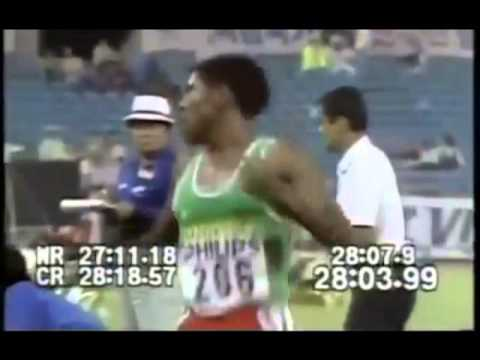 Athletics Legend  Haile Gebresellasie Punched From The Back Funny [Must See]