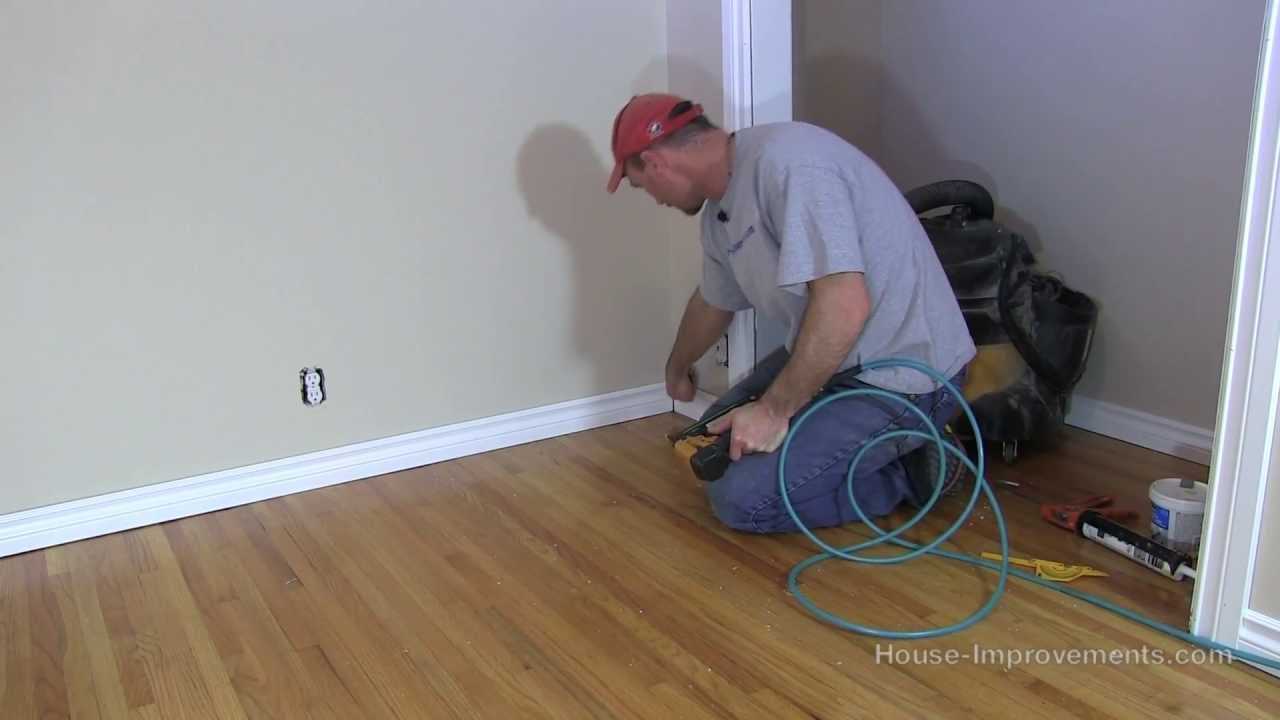 How To Install Baseboard Youtube