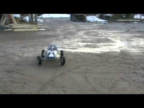 rc Cross Car With Chainsaw