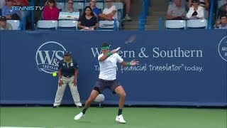 Hot Shot: Delpo's Forehand Drive Zooms Past Chung In Cincinnati 2018