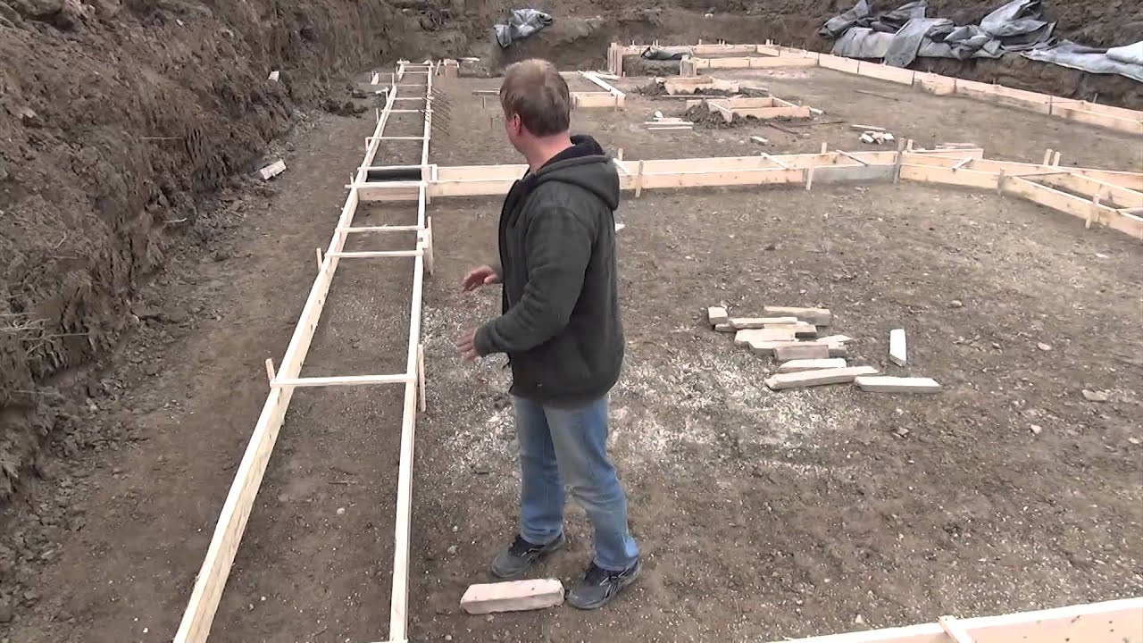 How to build a house pouring the footing youtube for How to go about building a house