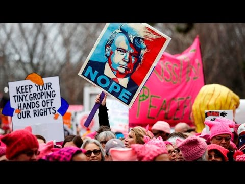 Women's March descends on D.C. a day after Trump's inauguration