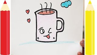 How to Draw Chocolate Cup Cute and Easy Way
