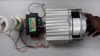 How to Make Generator by BLDC Motor.ডিসি মটর দিয়ে 220ভোল্টের লাইট জ্বালানো দেখুন