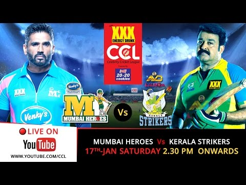 Ccl 5 Live - Mumbai Heroes V s Kerala Strikers video