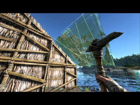 Arc Survival Evolved S1E3 - Building a Harbor Hut