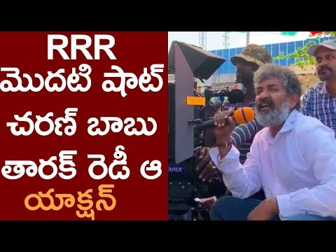 RRR Action Scene First Shot By SS Rajamouli | Ram Charan | Jr.NTRFilmy Monk