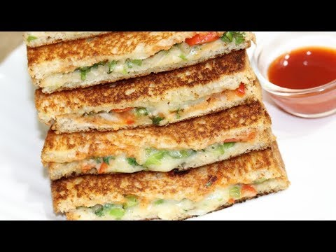 Cheesy Veg Sandwich Recipe | Cheese Sandwich | Easy & Quick Breakfast Sandwich Recipe| ब्रैड सैंडविच