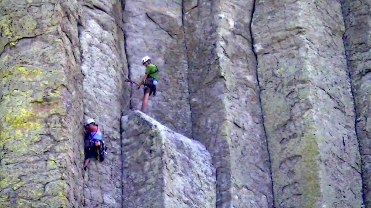 Devils Tower Wy >> Climbing Devils Tower-Devils Tower WY-Gary Clardy - YouTube