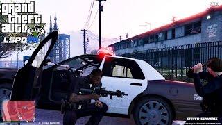 GTA 5 - LSPDFR - EPiSODE 73 - LET'S BE COPS - CITY PATROL (GTA 5 PC POLICE MODS) SHOOTOUTS