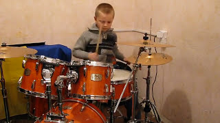 Deep Purple - Smoke On The Water - Drum Cover - Drummer Daniel Varfolomeyev 8 year
