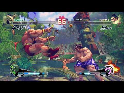 Hadoshrooms (Zangief) vs ? (Honda, Adon) - Super SF4 Preview London Video