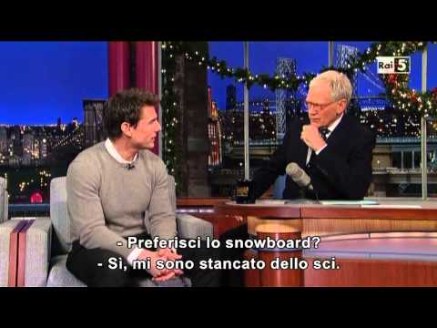 Tom Cruise al David Letterman 17-12-2012 (sub ita)