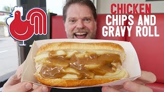 NEW RED ROOSTER CHICKEN CHIPS AND GRAVY ROLL FOOD REVIEW - Greg's Kitchen