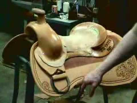 Saddle making with saddle maker Bruce Cheaney Gainesville Texas