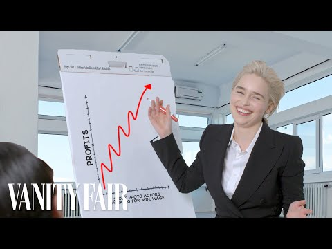 Emilia Clarke Re-Creates Stock Photos | Vanity Fair