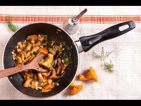 Жареные лисички луком рецепт фото