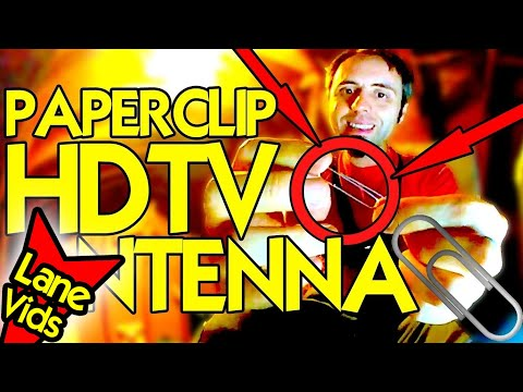 How To BUILD The BEST HDTV ANTENNA with a PAPERCLIP!   Homemade HDTV Antenna DIY  - 360 Video