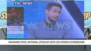 Swimming Pool National Stadium gets LED Screen scoreboard