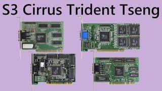 PCI Graphics Card Roundup S3 Cirrus Logic Trident Tseng