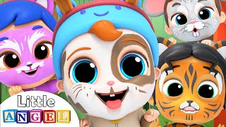 Let's do the Animal Dance | Face Paint Song | Little Angel Kids Songs